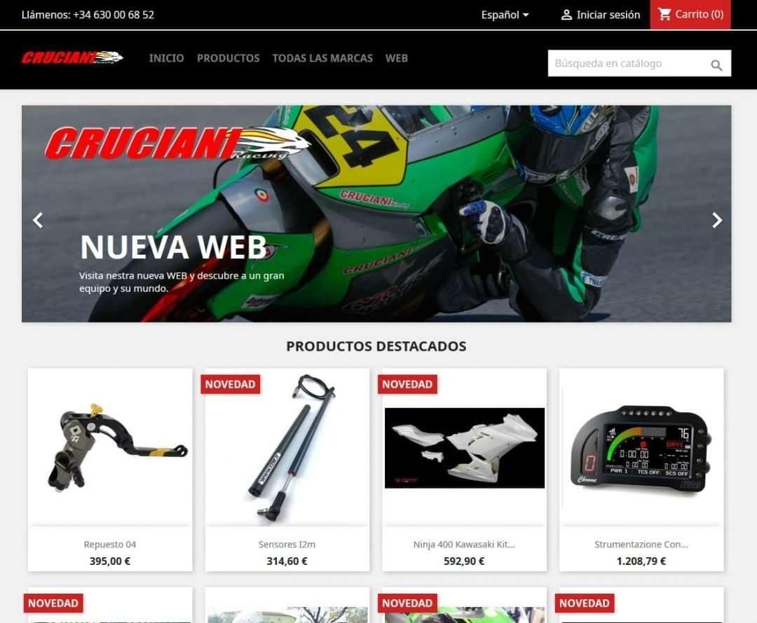 Tienda Online - Cruciani Racing